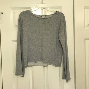 AEO Grey Crop Sweatshirt/ Size XS